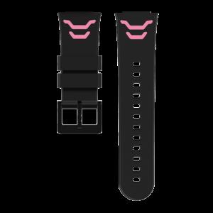 barnklocka armband rosa