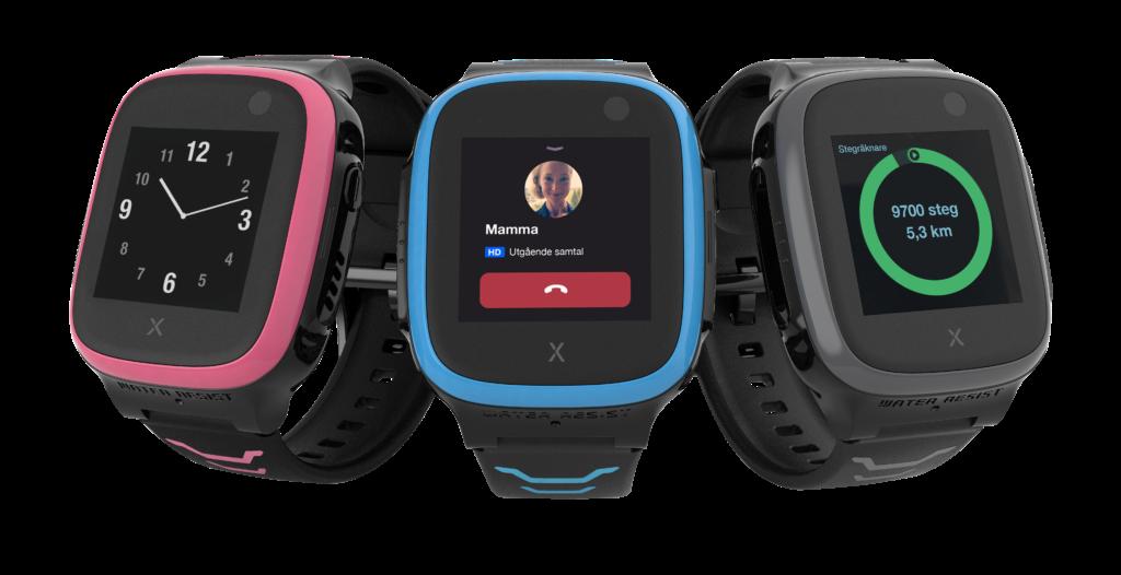 Xplora GPS klocka för barn i 3 olika färger